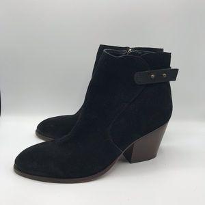 Sam Edelman Marielle Black Suede Bootie Size 8.5